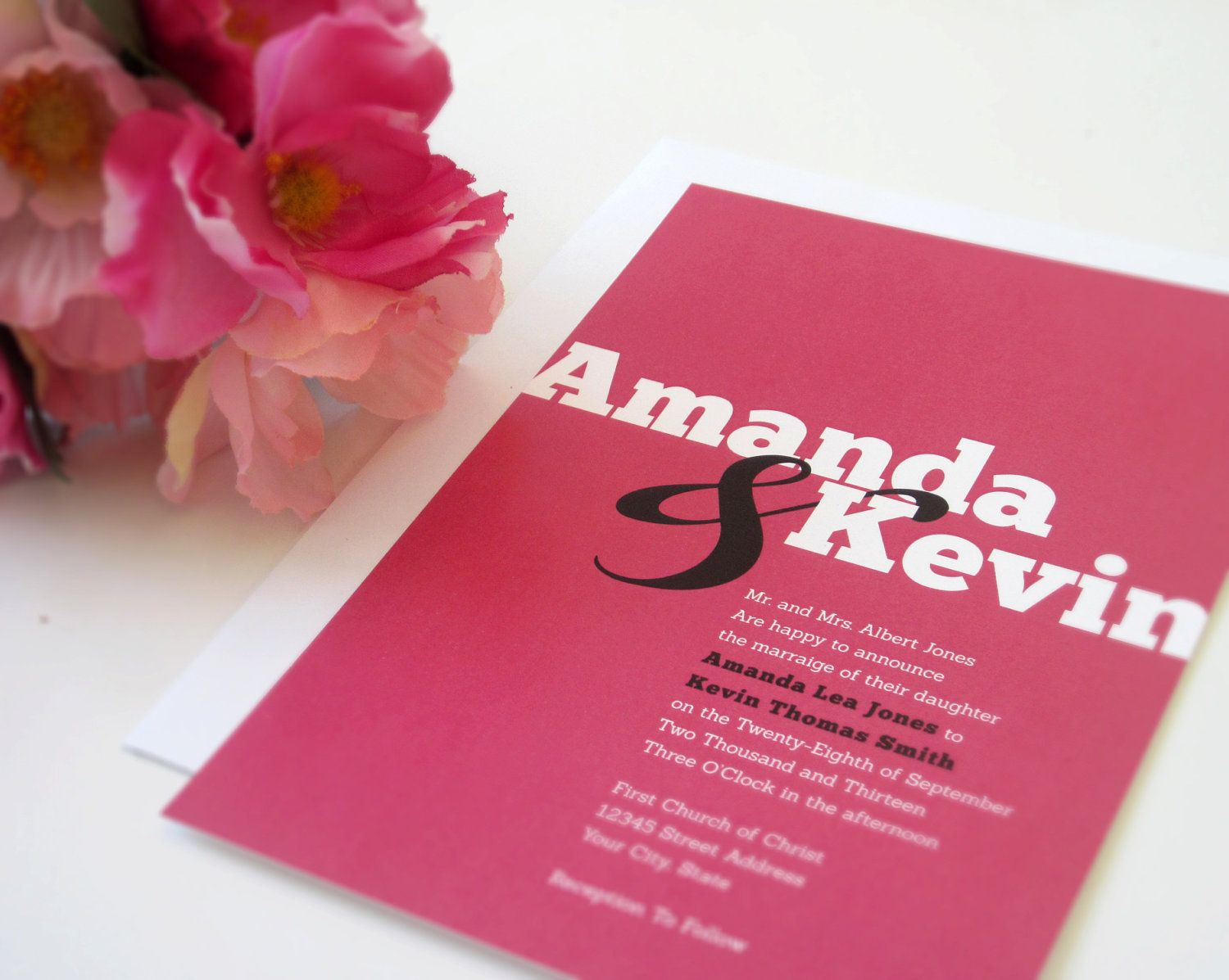 Bright & Bold Wedding Invitation Suite - DEPOSIT. $100.00, via Etsy ...