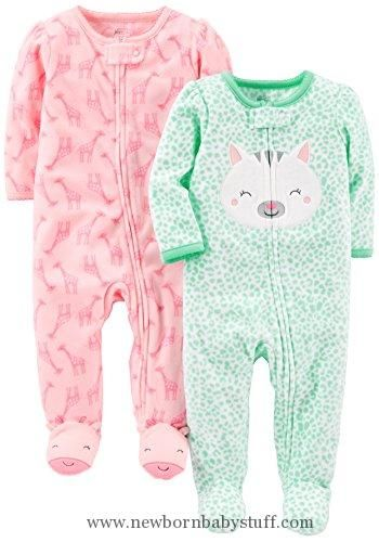Simple Joys by Carters Girls 2-Pack Fleece Nightgowns