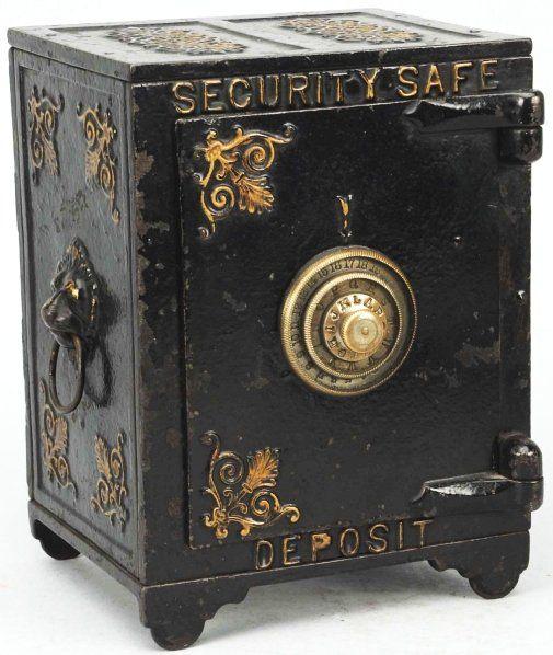 Cast Iron Security Safe Deposit Still Bank Antique Safe