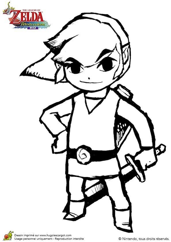 Toon Link Coloring Pages Concept