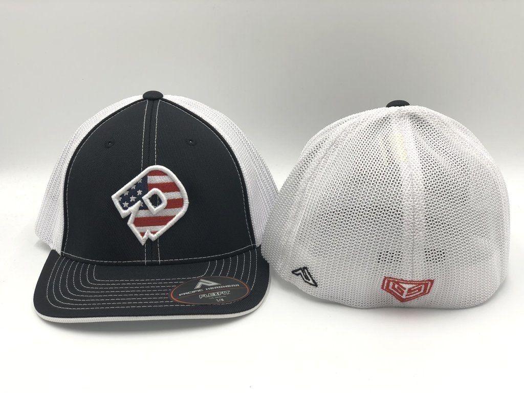 f529c280fbc Hats and Headwear 159057  Demarini America Flexfit Trucker Style Hat -  Black White - gt