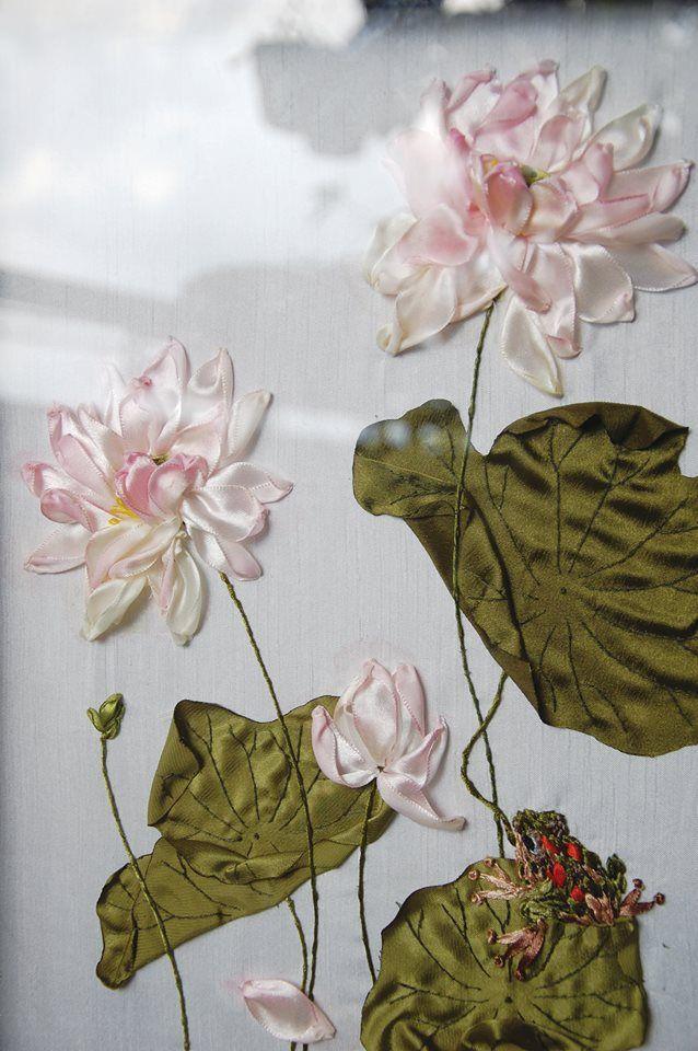 Lotus #TrầnĐường #ribbon #embroidery   embrodery   Pinterest ...