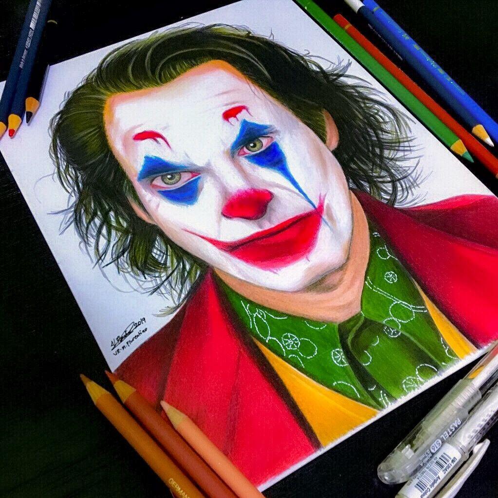 Joker Joaquin Phoenix Drawing Joker Drawings Joker Painting Phoenix Drawing