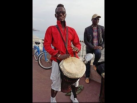 Monsieur Camara and Gambia drummers perform on Promenade des Anglais Nice Cotedazur - YouTube