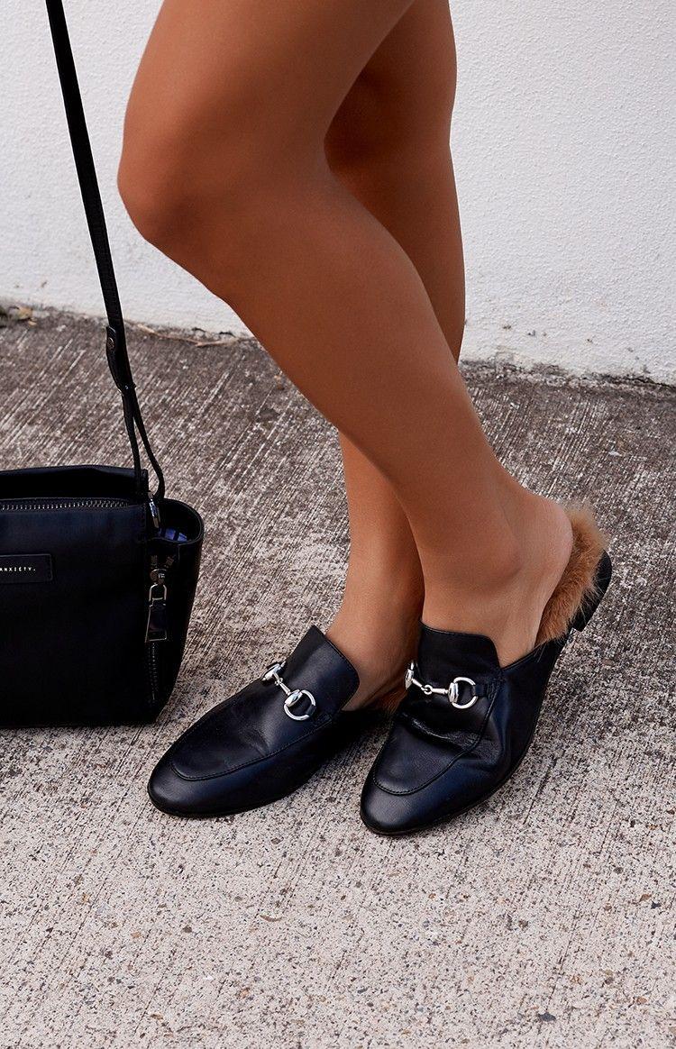 Tony Bianco Vienna Slides Loafer Black