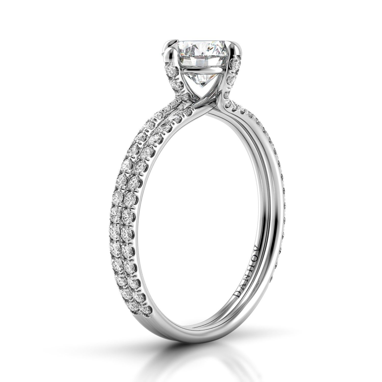 Danhov Eleganza Double Shank Diamond Engagement Ring with pass