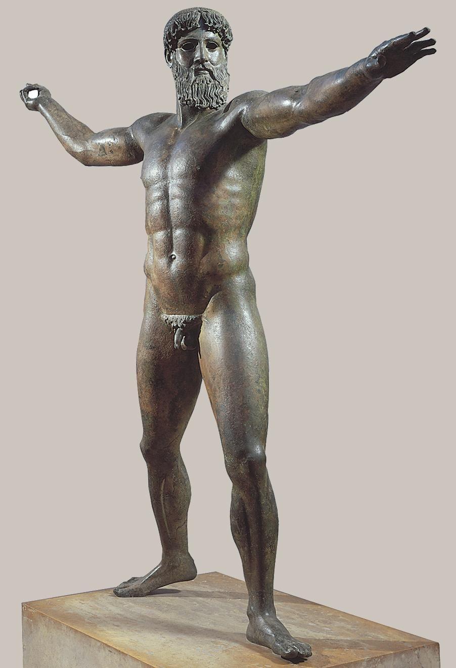 Afbeeldingsresultaat voor greek statue zeus