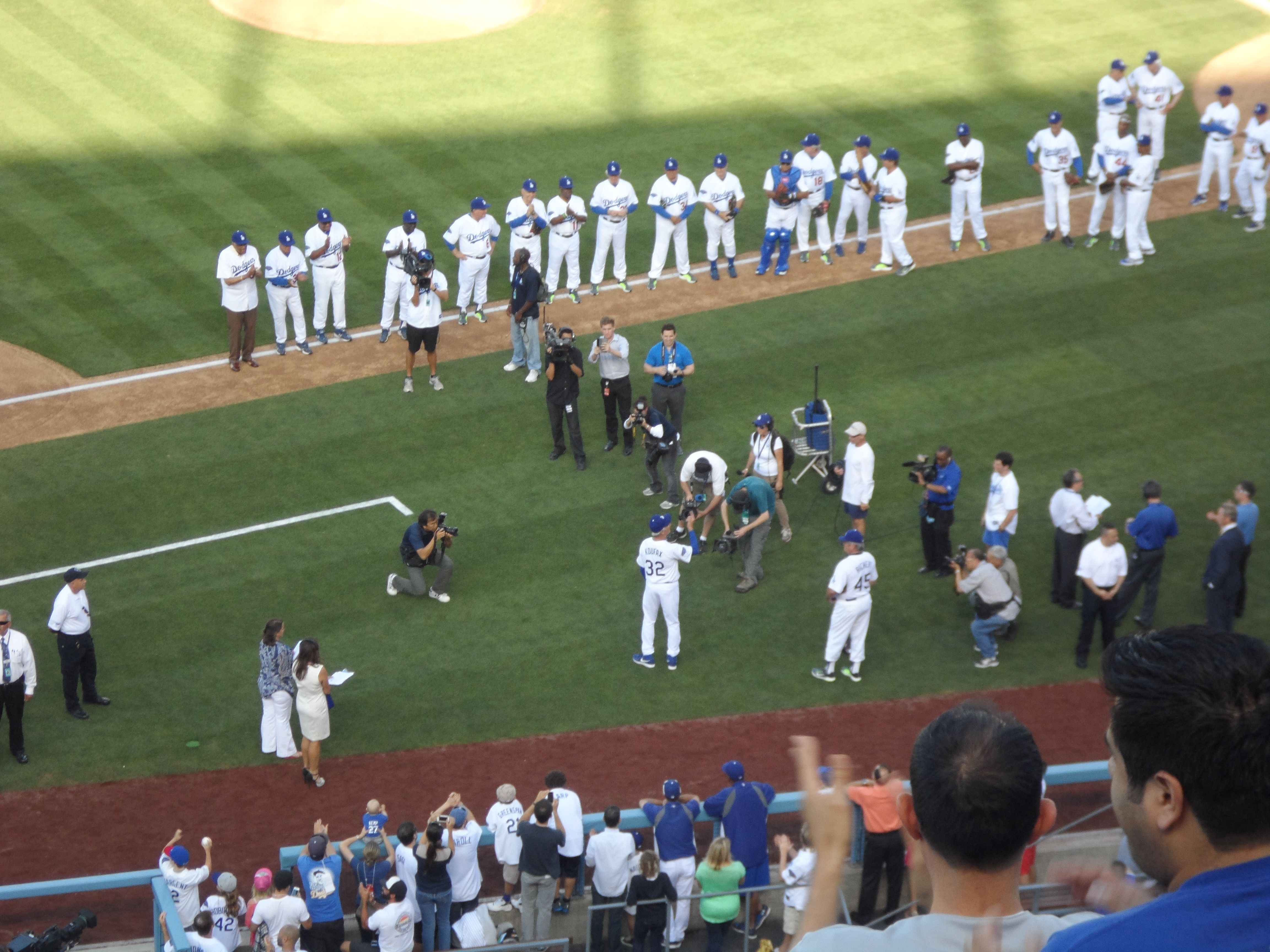 Old Timers Game June 8th 2013  Sandy Koufax being announced