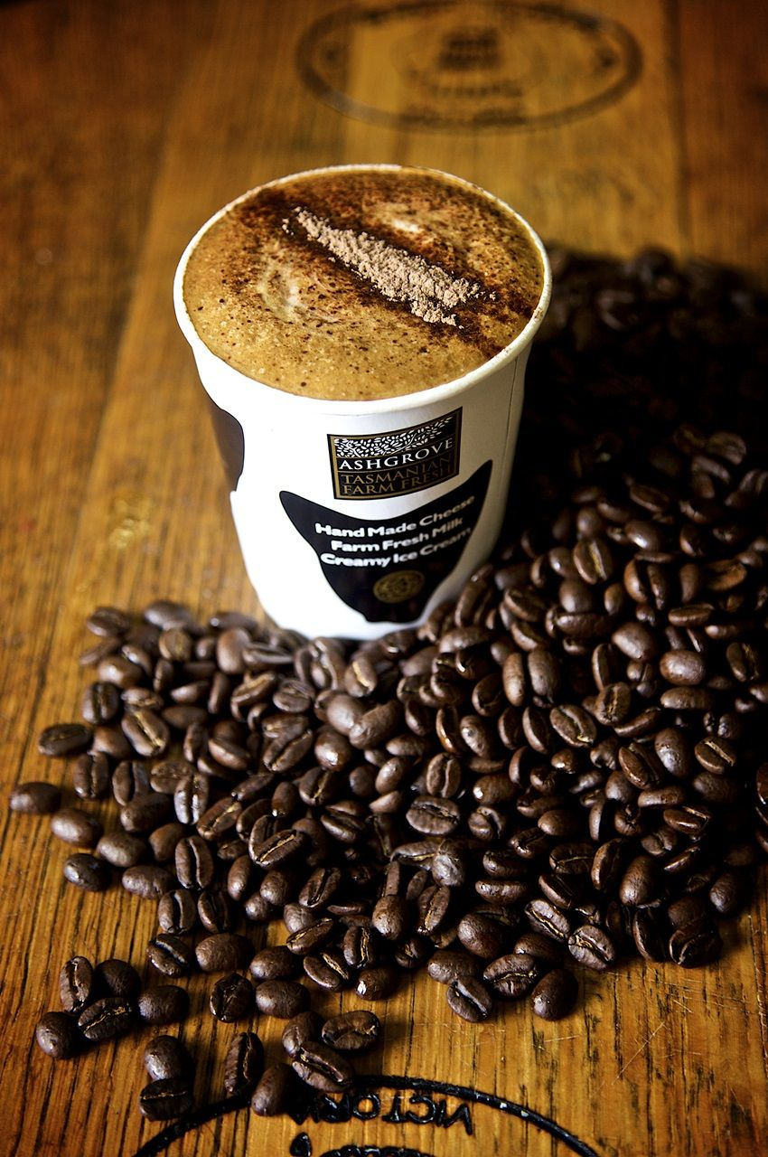Fresh locally roasted coffee beans with our creamy