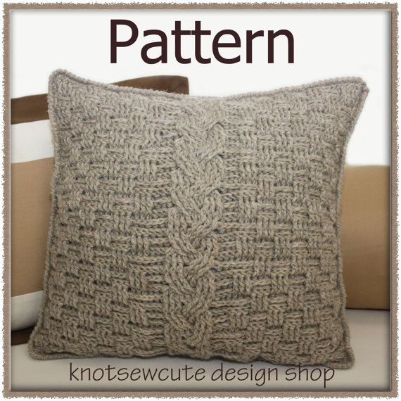 CROCHET PATTERN - Aran Accent Pillow - Instant Download (PDF ...
