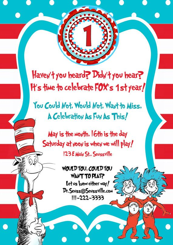 Dr Seuss Cat In The Hat Birthday By Littlegermanboutique Jr S