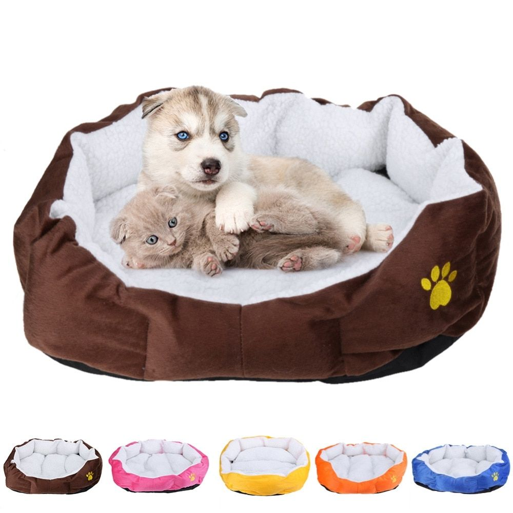 Pet Dog Bed Warming Dog House Soft Material Nest Dog Baskets Fall