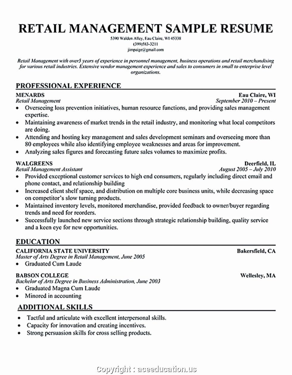 Retail Store Manager Resume Luxury Creative Clothing Store Manager Resume Example Resume Job Resume Examples Resume Manager Resume