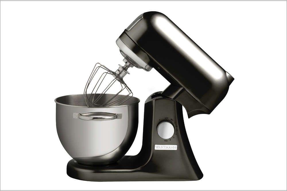 Wartmann Keukenmachine Hoogglans zwart 1000 WATT Wilt u mixen, kloppen en mengen dan is deze Wartmann standmixer keukenmachine met een vermogen van maar liefst 1000 Watt een uitstekende keuze. De Wartmann standmixer keukenmachine heeft een stevige behuizing van gegoten aluminium en een mooie, klassieke, vormgeving. € 349,95
