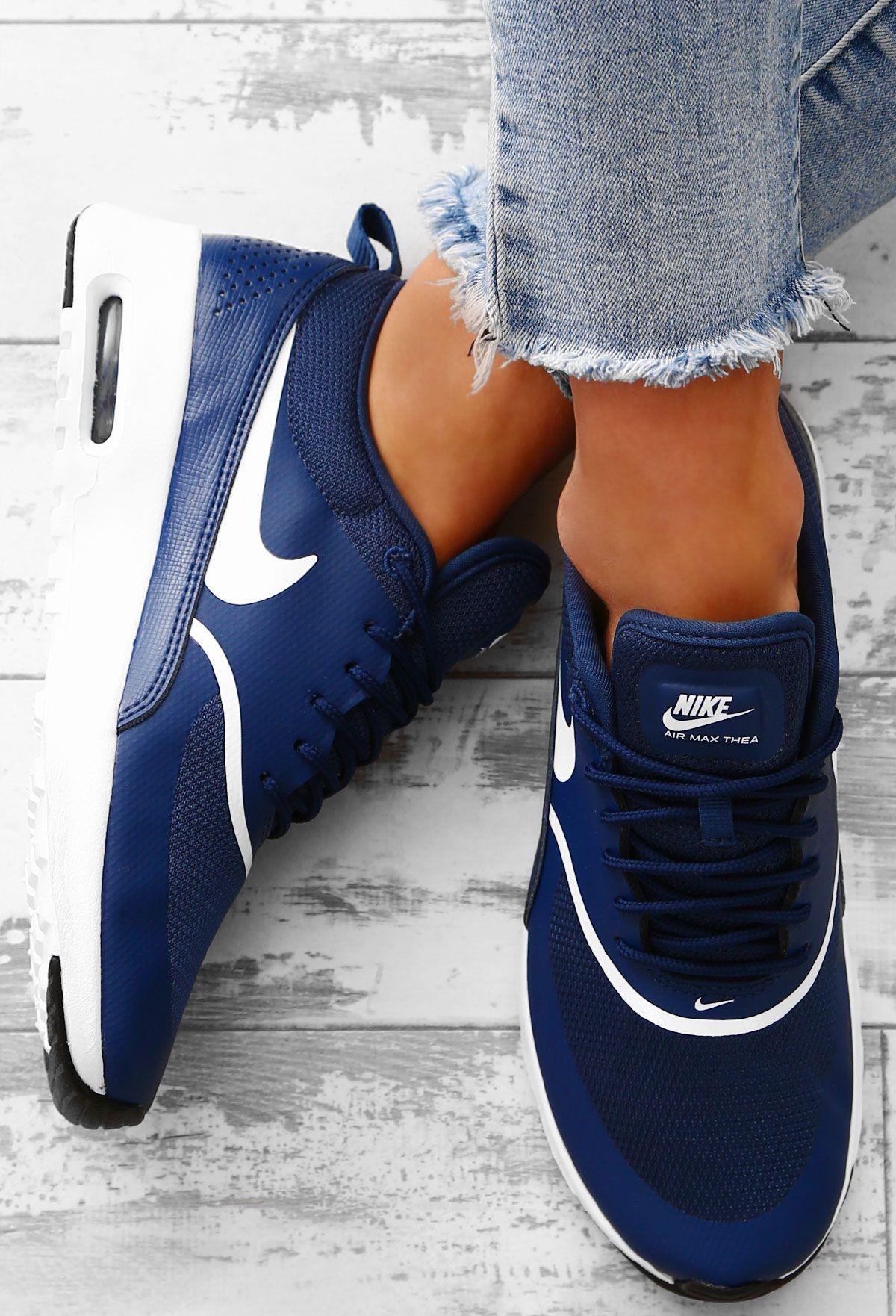 Nike Air Max Thea Navy Trainers UK 3 | Nike air max, Nike