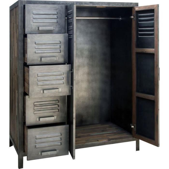 armoire metallique chambre. Black Bedroom Furniture Sets. Home Design Ideas