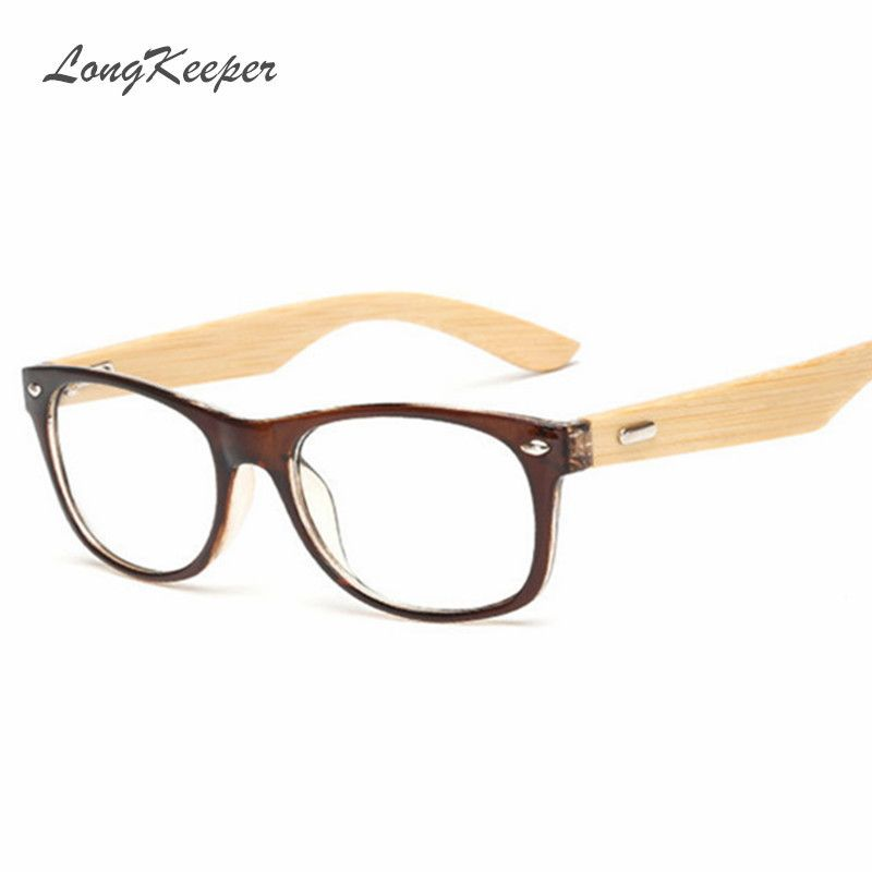 LongKeeper Bamboo Glasses Frame Men Women Eyeglasses Wood Spectacle ...