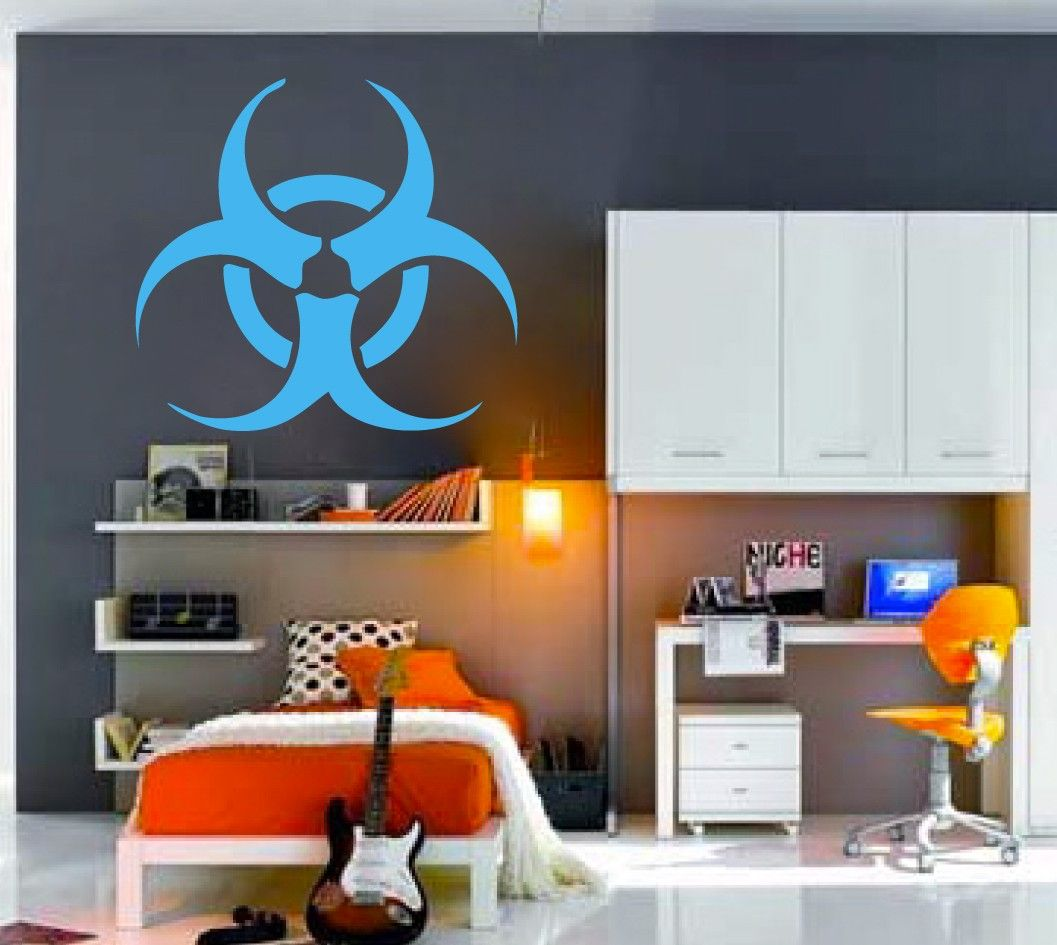 Biohazard Decal | Vinyl Wall Sticker | Radiation Apocoliptic