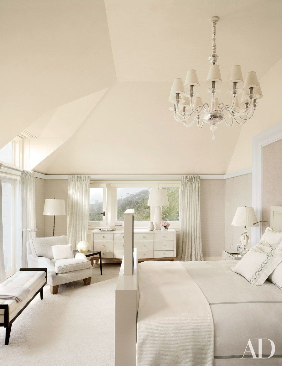 Hidden Tv Ideas White Rooms Hamptons Bedroom Home