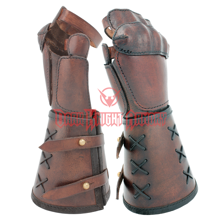 Single Leather Gauntlet - MCI-2742 from Dark Knight Armoury