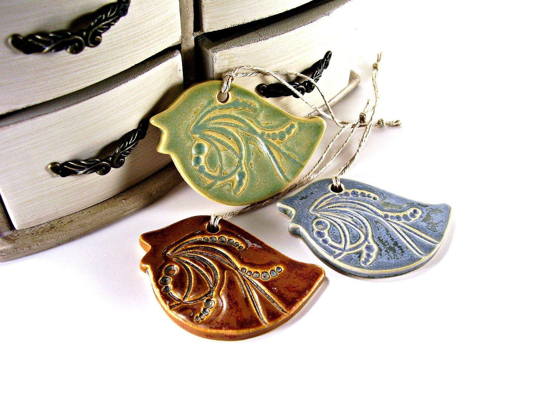 Ceramic bird ornament