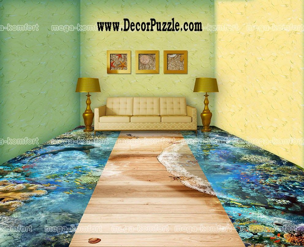 3d floor art and self leveling floor living room flooring for Floor 3d wallpaper