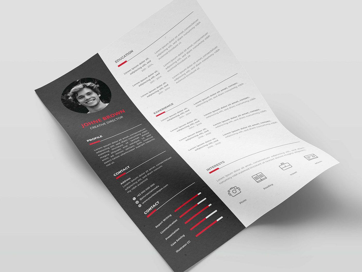 Free Vector Curriculum Vitae Template Curriculum vitae