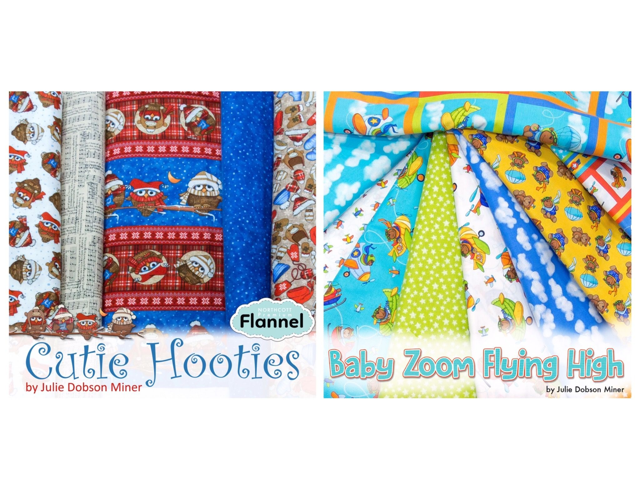 Two New Kids Fabric Collections From Northcott. Both Designed By Julie  Dobson Miner. Perfect