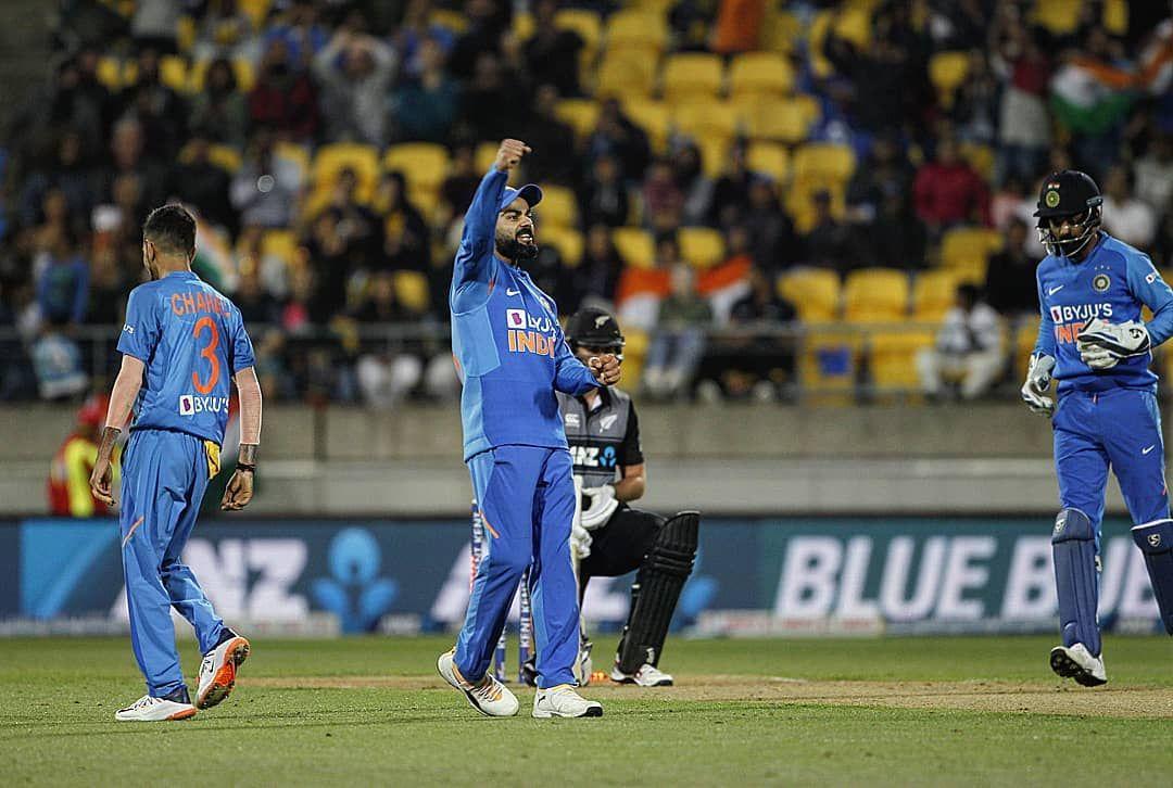 India vs New Zealand Cricket Match Photos India win