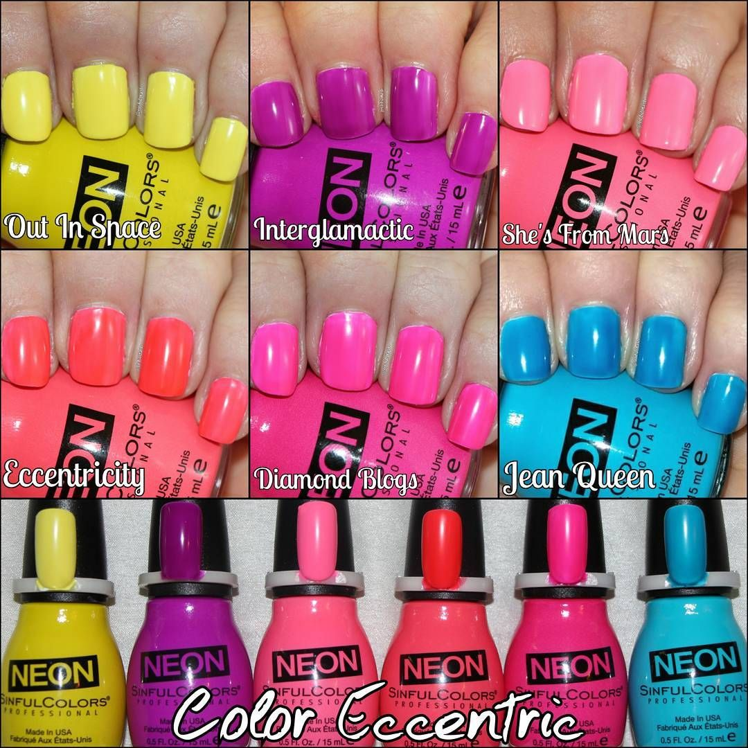 Summer Nail Colors 2017: Sinful Colors Neon Collection Summer 2017