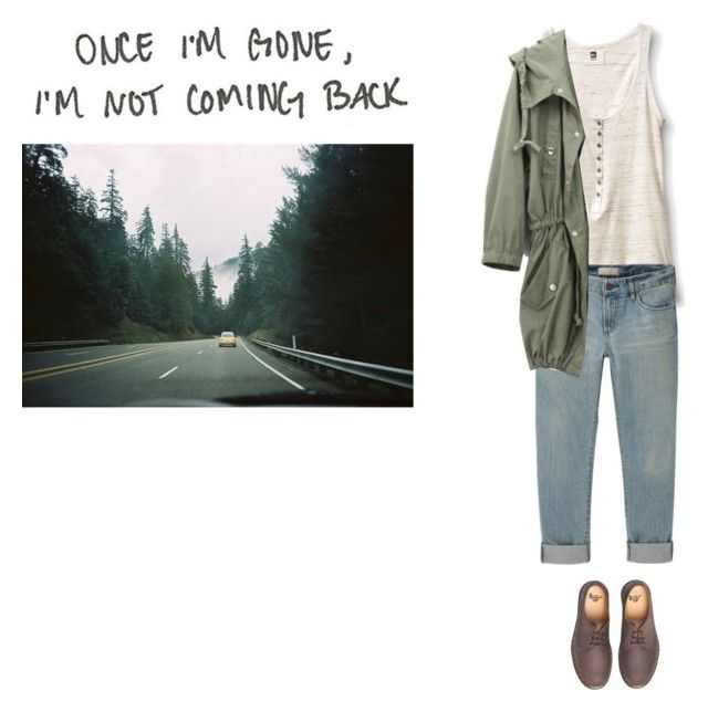 """""""once i'm gone i'm not coming back..."""" by jocelynj17 ❤ liked on Polyvore featuring La Vie en Rose, Quiksilver, Uniqlo and Dr. Martens"""