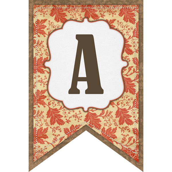 photo regarding Fall Banner Printable named Cost-free Printable Autumn Banner Established with Components Do-it-yourself Plans