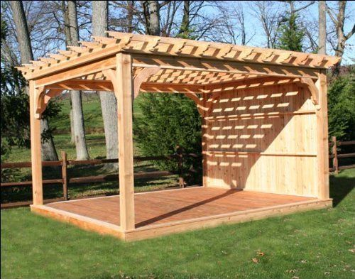 14 X 20 Cedar Deluxe 4 Beam Pergola By Fifthroom 6399 00 Outdoor Pergola Pergola Plans Pergola Designs