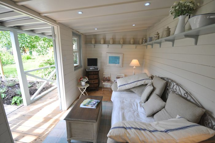Summer house interior google search mum 39 s tiny house for Garden designs with summer houses