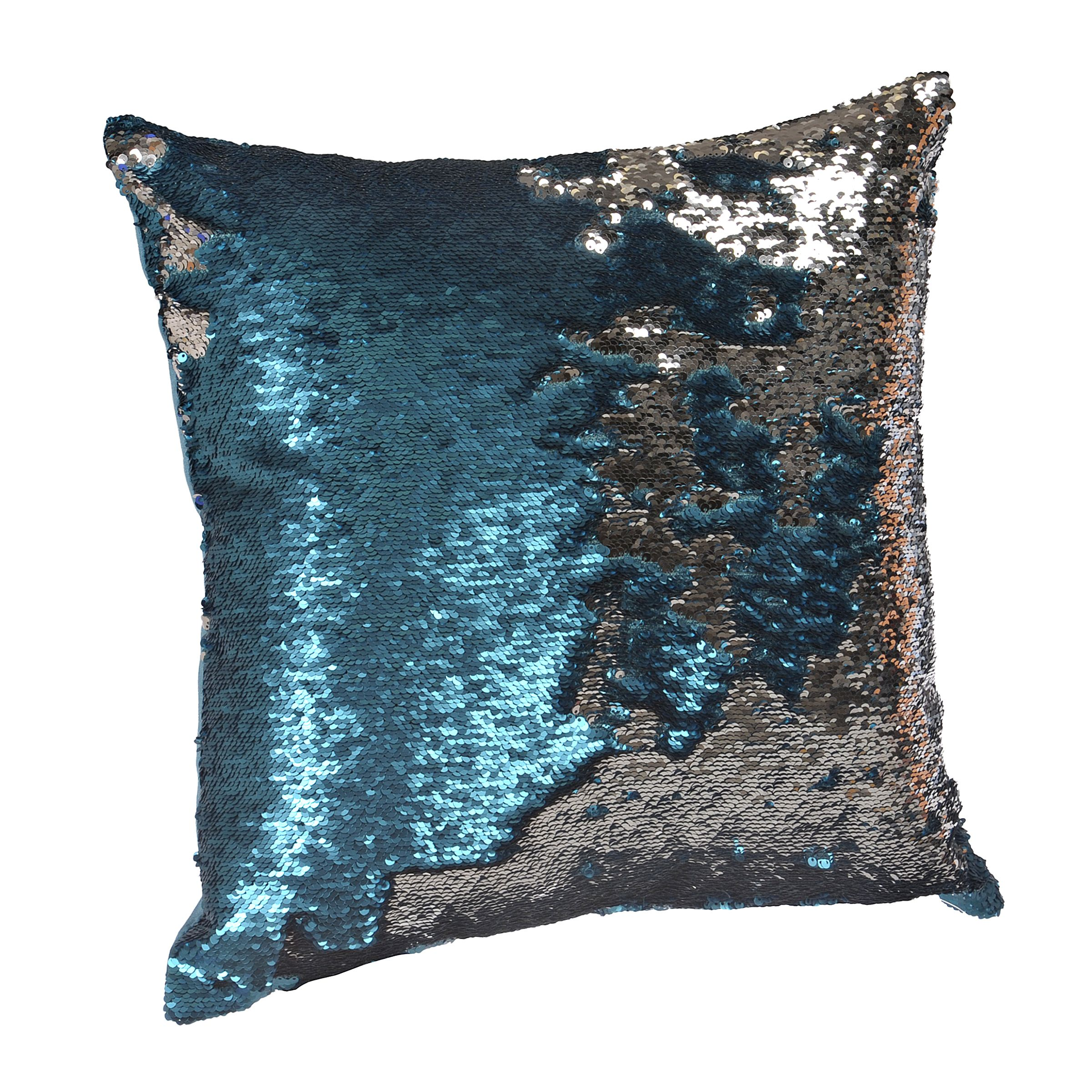 collections aqua perpetual sequin pillows magic apr silver photo pm pillow