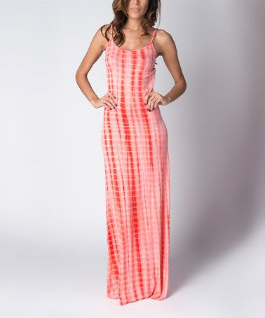 Another great find on #zulily! Coral Ripple Tie-Dye Maxi Dress by Paradise USA Fashion #zulilyfinds