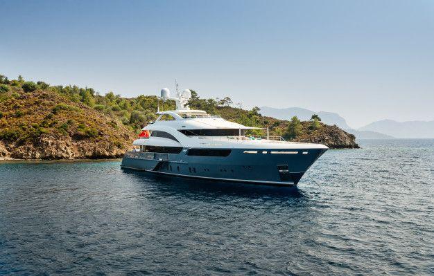 Luxury big yacht stay in the sea around ... | Free Photo #Freepik #freephoto #background #travel #water #summer