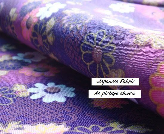Japanese fabric - purple floral