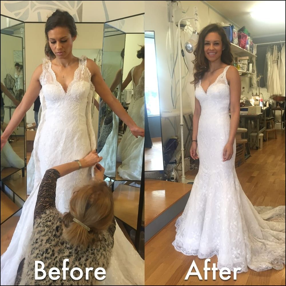 wedding dress alterations before and after - Wedding Decor Ideas