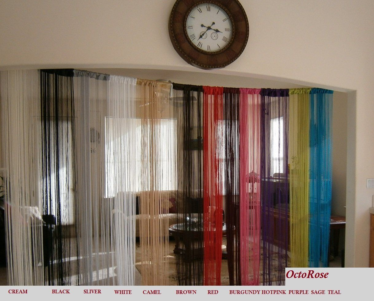 curtain room dividers string curtain with beaded fringe panel room divider 11126