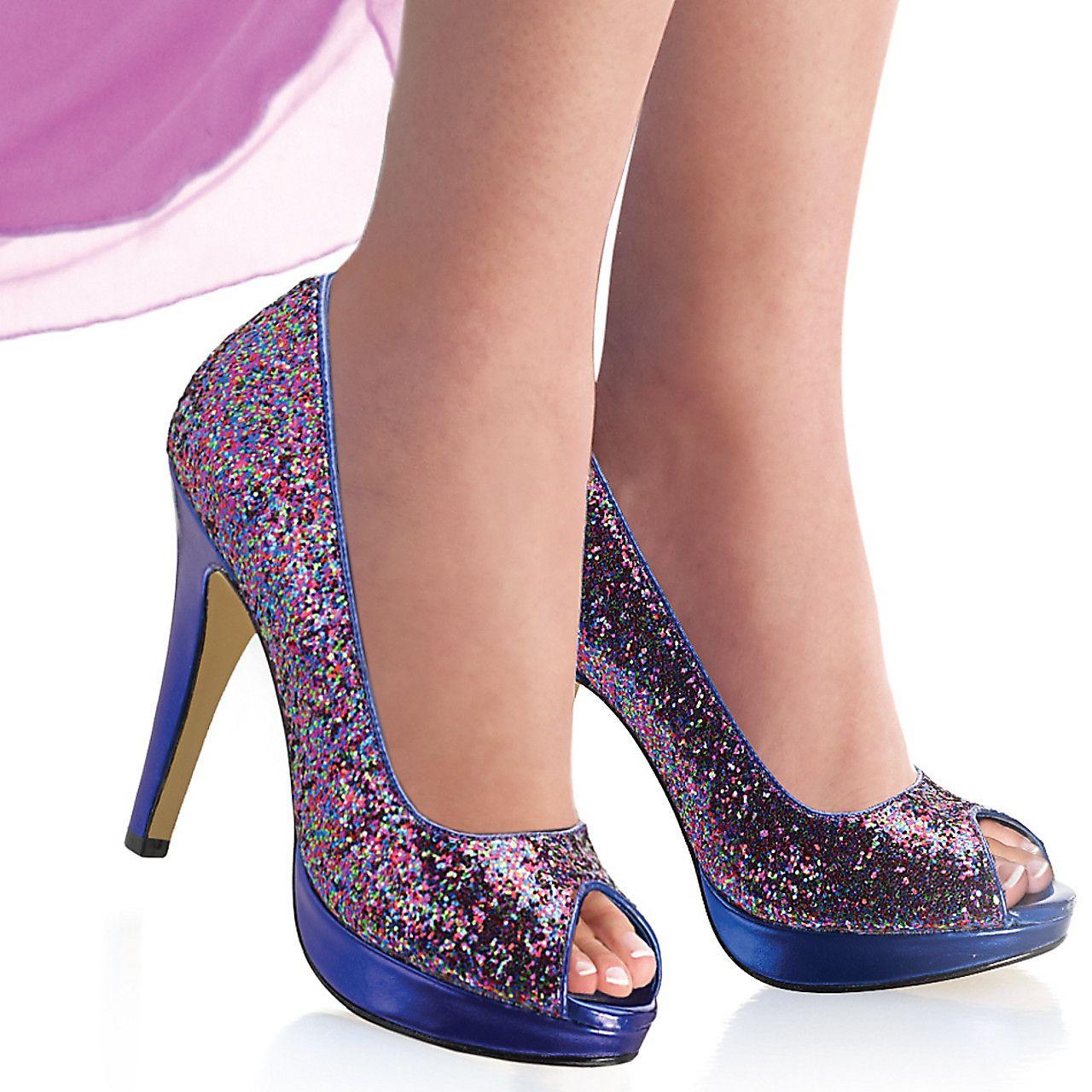 Rainbow glitter shoes!