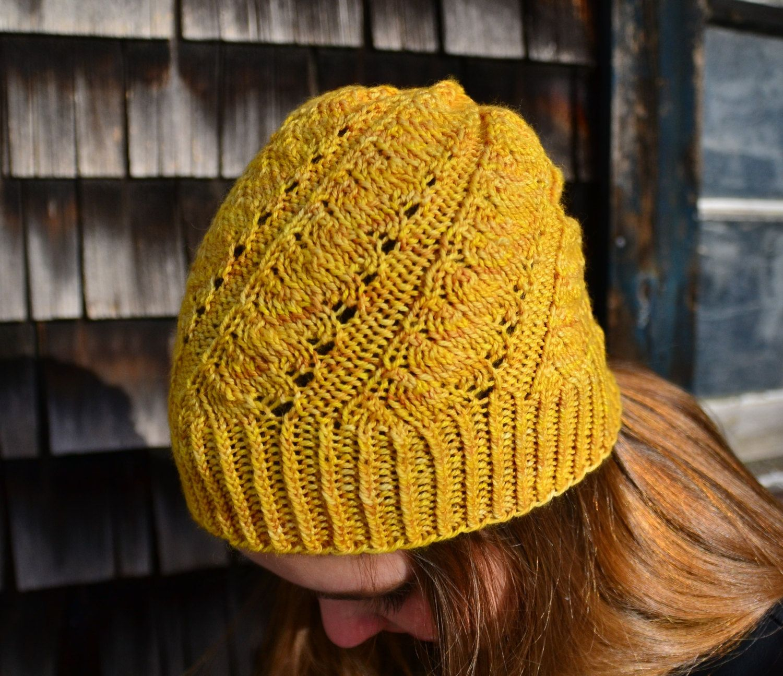 KNITTING PATTERN Springtime in Paris lace hat light spring design in ...