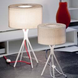 Photo of Le Labo design Easy 450 with woven table lamp, with red cableNostraforma.com