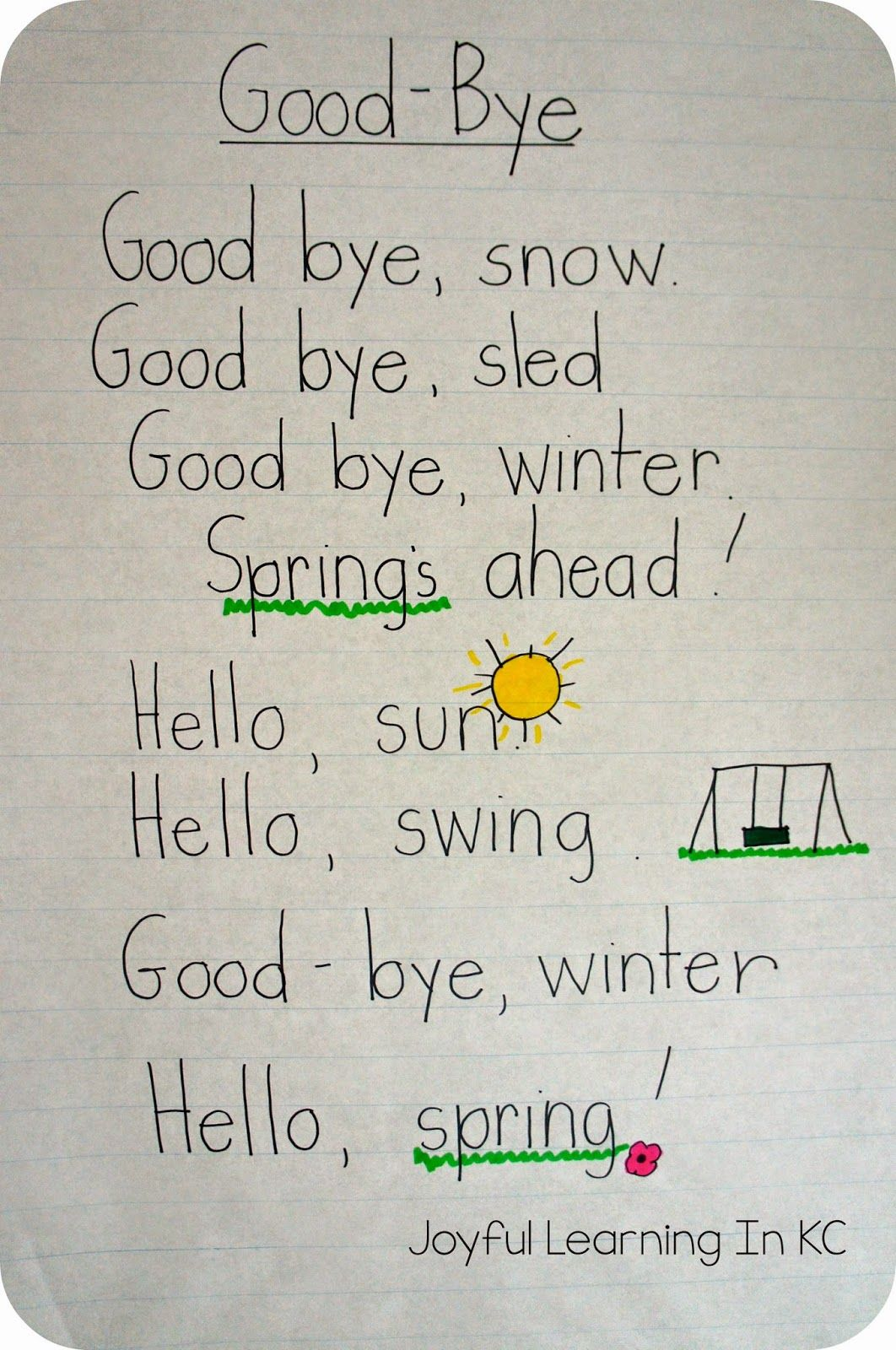Spring Poems For Shared Reading Time