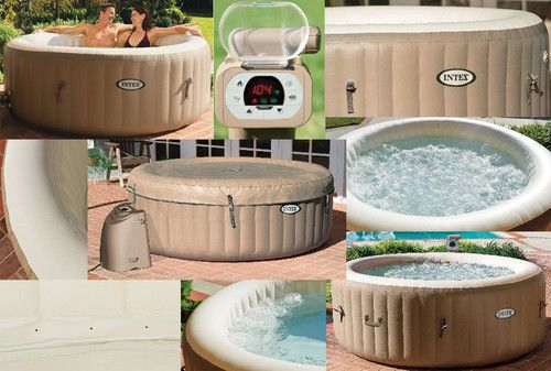 New intex pure spa hot tub deluxe 4 5 person inflatable for Aspirateur spa intex