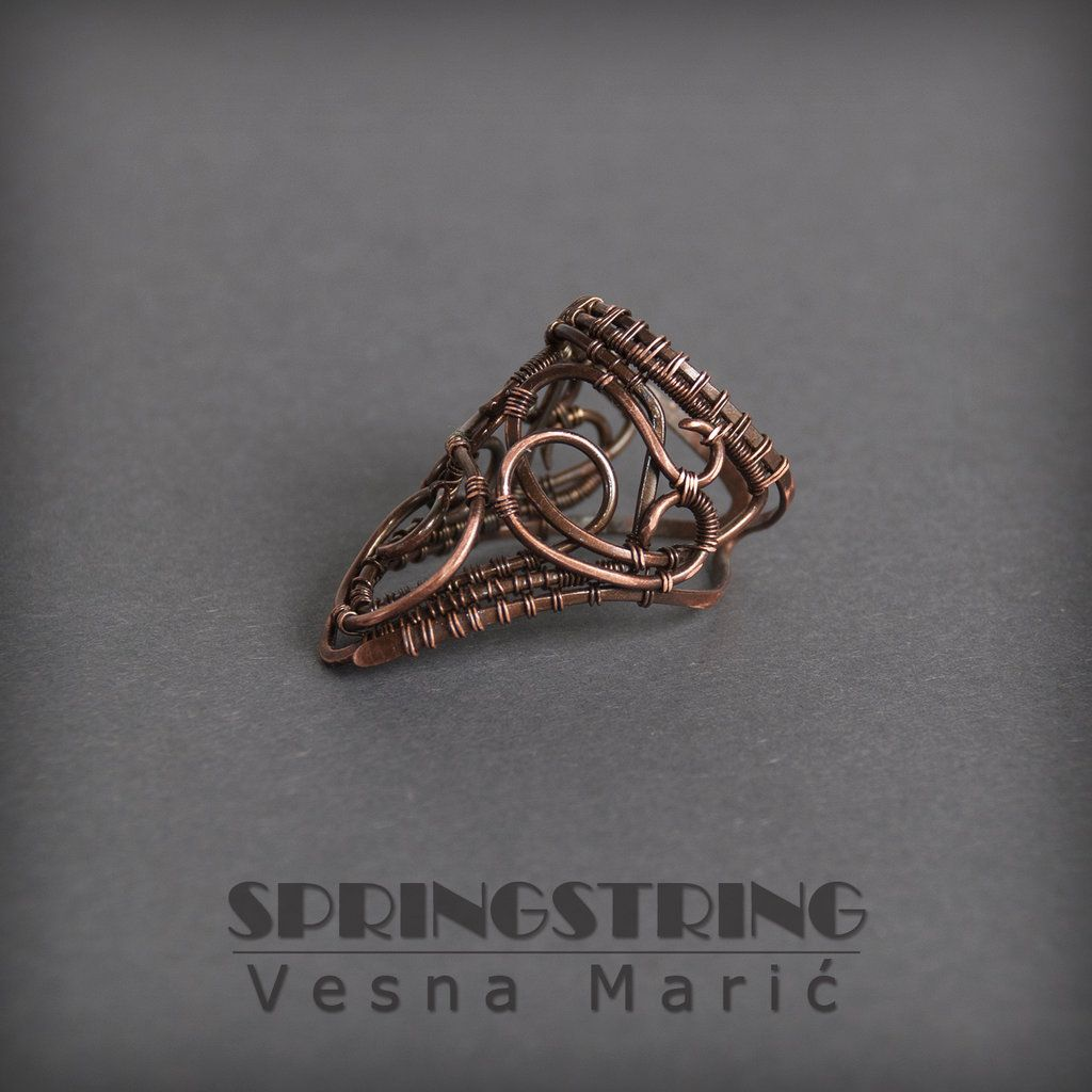 Wire wrapped copper ring by VesnaMaric.deviantart.com on @DeviantArt ...
