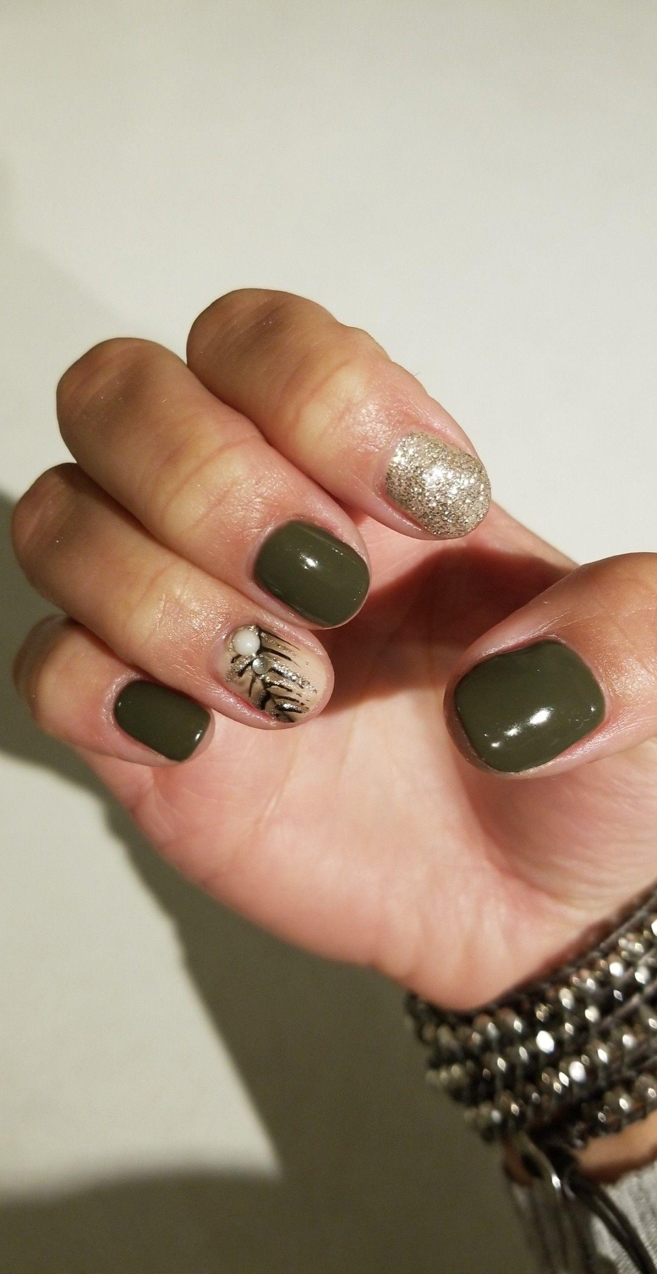 Fall Nails Army Green Green Nails Hair And Nails Animal Print Nails