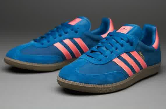 Sepatu Sneakers Adidas Originals Samba Blue Red Gum Sepatu