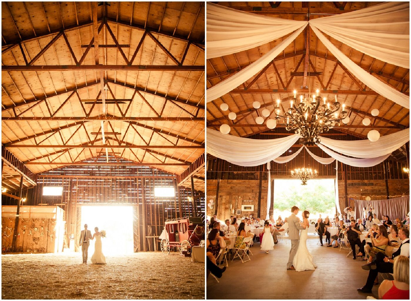 Northern California Barn Wedding Rustic Chic
