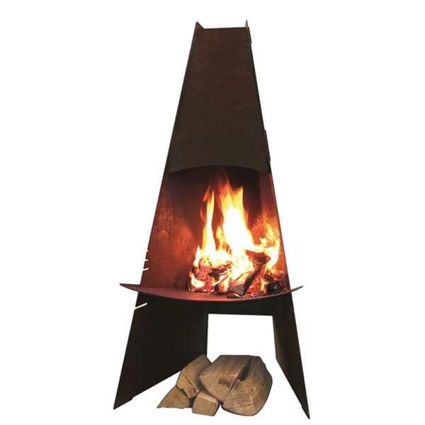Aduro Gartenkamin Material aus 3 mm Cortenstahl Maße: 124 x 60 x 58 cm Gewicht: 32 kg